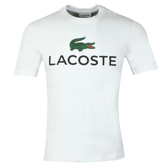 Lacoste Mens White S/S TH0603 Tee main image