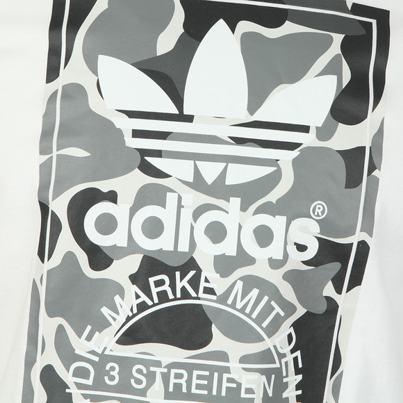 adidas Originals Mens White S/S Camo Label Tee main image