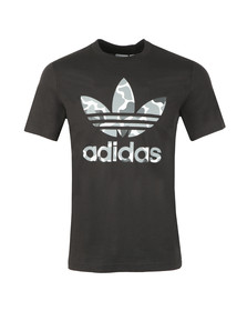 adidas Originals Mens Black Trefoil Tee