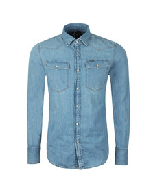 G-Star Mens Blue L/S Denim Shirt