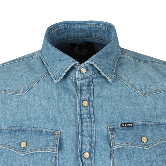 G-Star Mens Blue L/S Denim Shirt main image