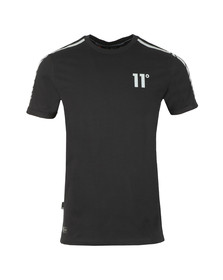 Eleven Degrees Mens Black Reflective T-Shirt