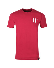 Eleven Degrees Mens Red S/S Core Tee