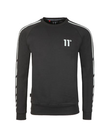 Eleven Degrees Mens Black Reflective Sweater