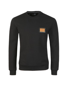 Love Moschino Mens Black Plaque Logo Sweatshirt