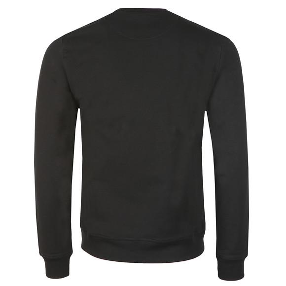 Love Moschino Mens Black Plaque Logo Sweatshirt main image