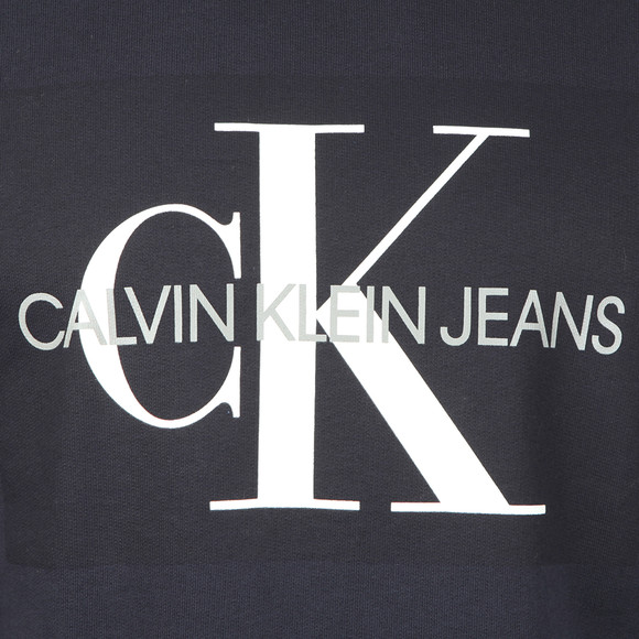 Calvin Klein Jeans Mens Blue Monogram Logo Sweatshirt main image