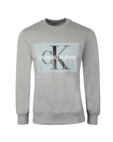 Calvin Klein Jeans Mens Grey Monogram Logo Sweat