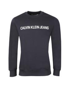 Calvin Klein Jeans Mens Blue Institutional Crew Sweat