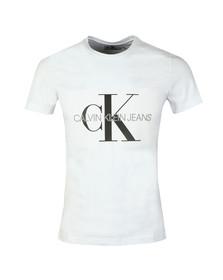 Calvin Klein Jeans Mens White S/S Monogram Box Tee