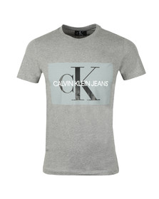 Calvin Klein Jeans Mens Grey S/S Monogram Box T-Shirt