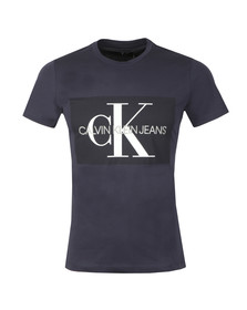 Calvin Klein Jeans Mens Blue S/S Monogram Box T-Shirt