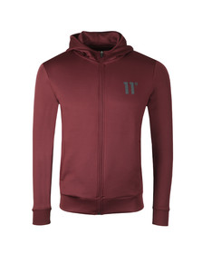 Eleven Degrees Mens Red Core Zip Poly Top