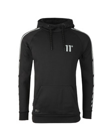 Eleven Degrees Mens Black Reflective Hoodie