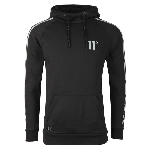 Eleven Degrees Mens Black Reflective Hoodie main image