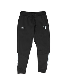 Eleven Degrees Mens Black Reflective Joggers