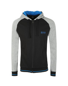 BOSS Mens Black Authentic Two Tone Hoody