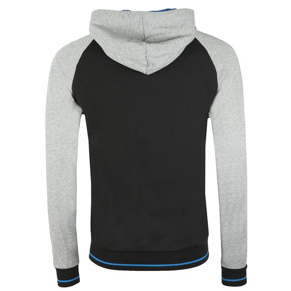 BOSS Loungewear Mens Black Authentic Two Tone Hoody main image