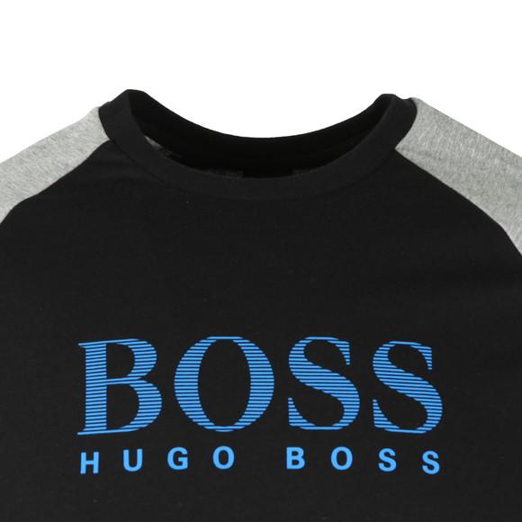 BOSS Bodywear Mens Black Authentic Two Tone Sweatshirt main image
