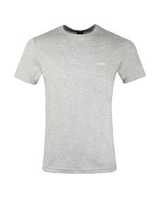 BOSS Green Mens Grey Tee Plain T Shirt