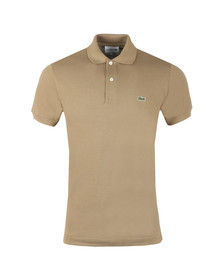 Lacoste Mens Brown L1212 Plain Polo Shirt