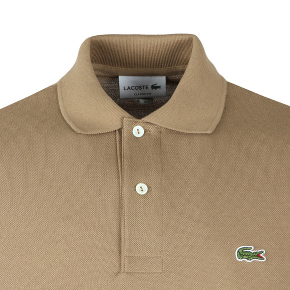 Lacoste Mens Brown L1212 Plain Polo Shirt main image