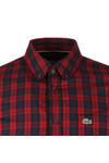 Lacoste Mens Red L/S CH0461 Check Shirt