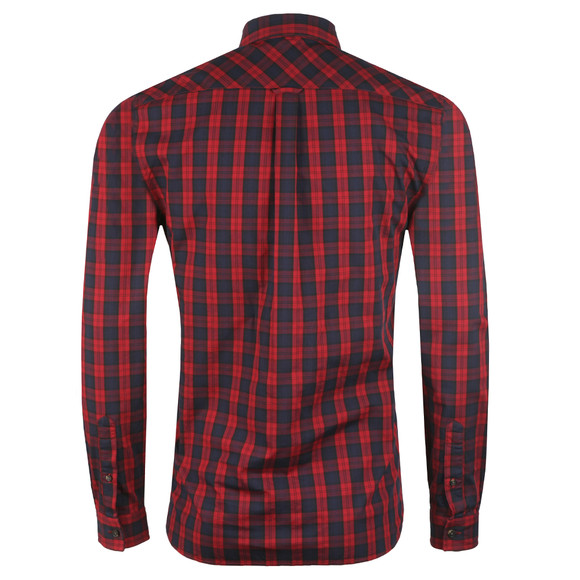 Lacoste Mens Red L/S CH0461 Check Shirt main image
