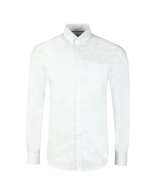 Lacoste Mens White L/S CH9623 Plain Shirt