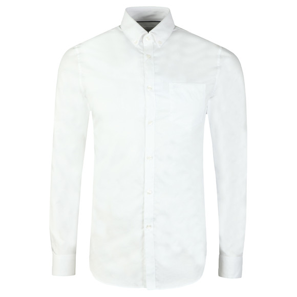 Lacoste Mens White CH9623 Plain Shirt