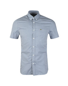 Lacoste Mens Blue S/S CH0470 Gingham Check Shirt