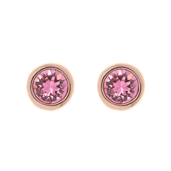 Ted Baker Womens Pink Sinaa Crystal Stud Earrings main image