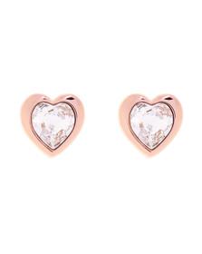 Ted Baker Womens Gold Han Crystal Heart Earring