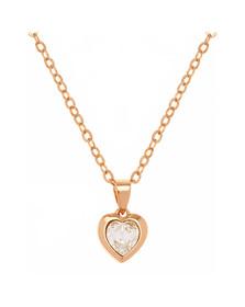 Ted Baker Womens Gold Hannela Crystal Heart Pendant
