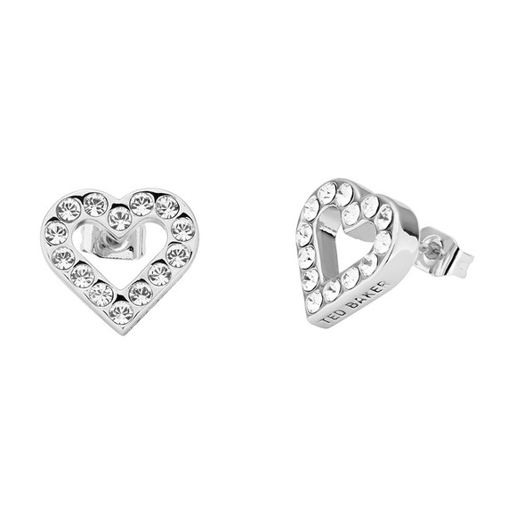 Ted Baker Womens Silver Edesiah Enchanted Heart Stud Earring main image