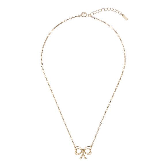 Ted Baker Womens Gold Lahri Heart Bow Pendant main image