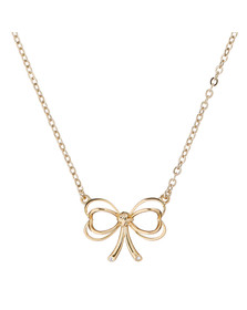 Ted Baker Womens Gold Lahri Heart Bow Pendant