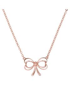 Ted Baker Womens Pink Rose Gold Lahri Heart Bow Pendant