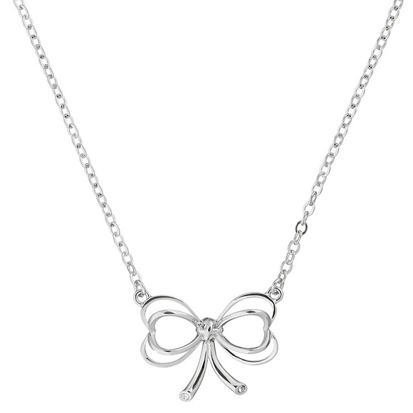 Ted Baker Womens Silver Lahri Heart Bow Pendant main image