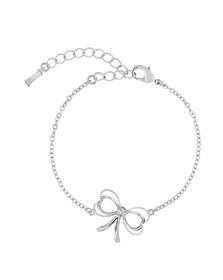 Ted Baker Womens Silver Latiya Heart Bow Bracelet