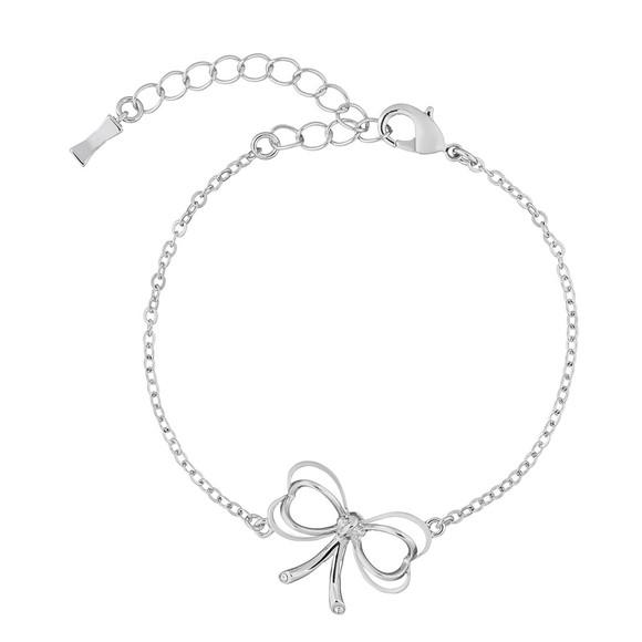 Ted Baker Womens Silver Latiya Heart Bow Bracelet main image