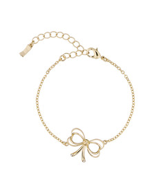 Ted Baker Womens Gold Latiya Heart Bow Bracelet