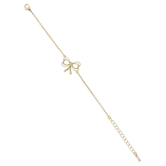 Ted Baker Womens Gold Latiya Heart Bow Bracelet main image