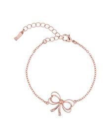 Ted Baker Womens Pink Rose Gold Latiya Heart Bow Bracelet