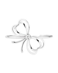 Ted Baker Womens Silver Lacole Heart Bow Cuff