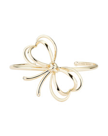 Ted Baker Womens Gold Lacole Heart Bow Cuff