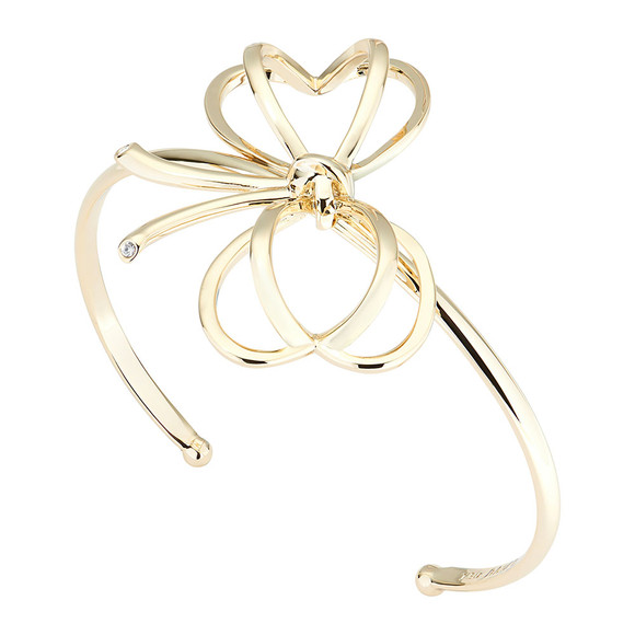 Ted Baker Womens Gold Lacole Heart Bow Cuff main image