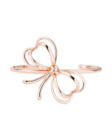 Ted Baker Womens Pink Rose Gold Lacole Heart Bow Cuff