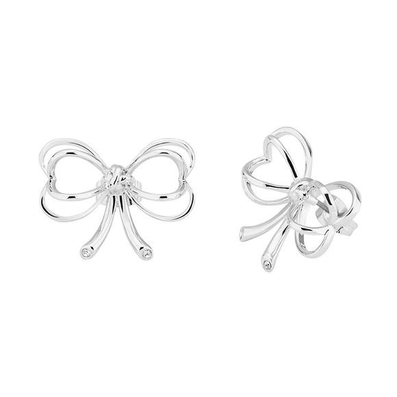 Ted Baker Womens Silver Lakia Heart Bow Stud Earring main image