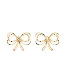 Ted Baker Womens Gold Lakia Heart Bow Stud Earring